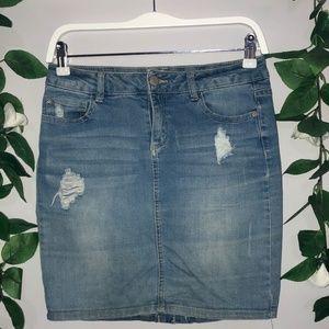 Jay Jays Size 10 Denim Skirt Distressed Look